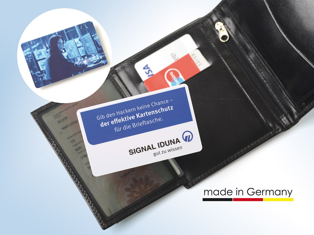 rfid blocker karte RFID Blocker Karte SIGNAL IDUNA Werbemittelshop