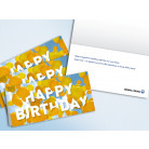 "Glückwunschkarte ""HAPPY BIRTHDAY"""
